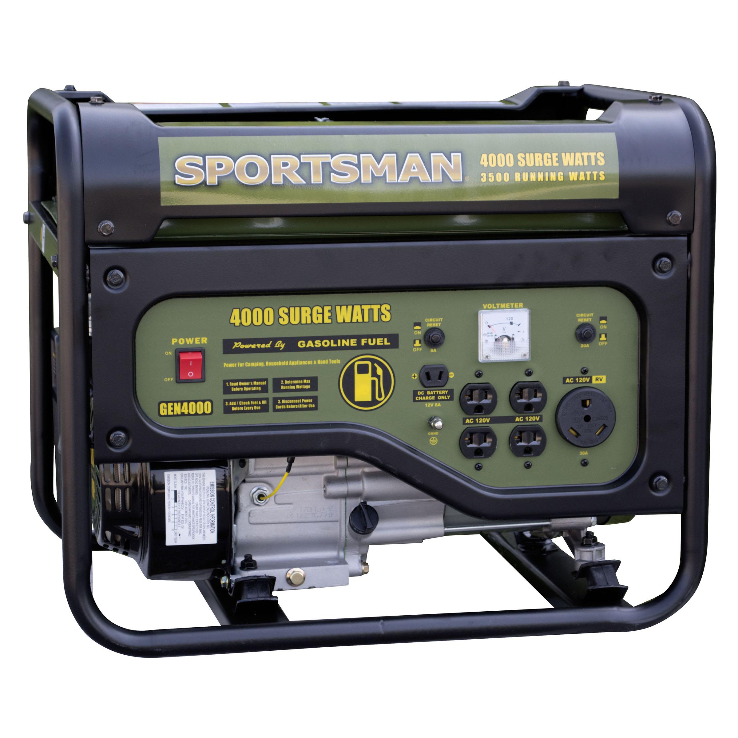 Sportsman Gasoline 4000 Watt Portable Generator Carb